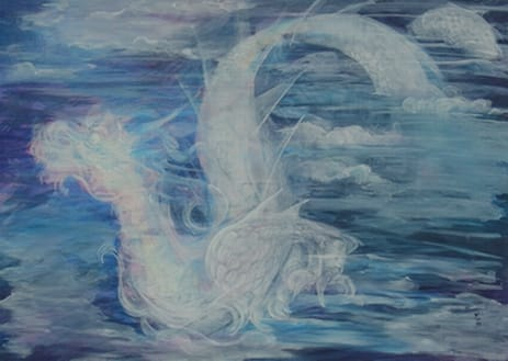 The White Dragon Rises from the Sea Image