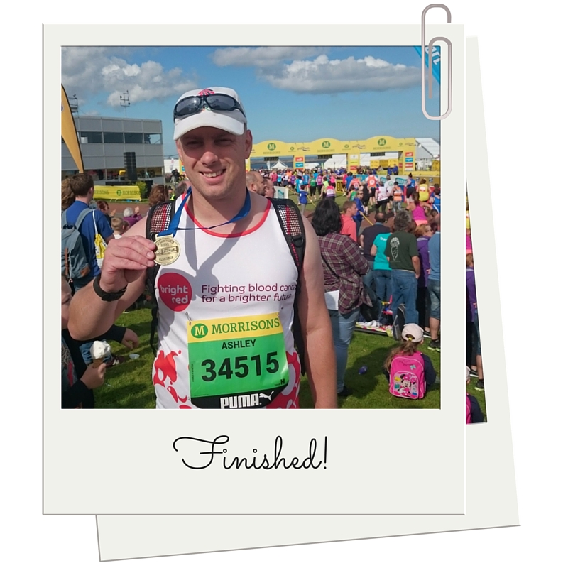 Ash Winter at the finish line of the GNR