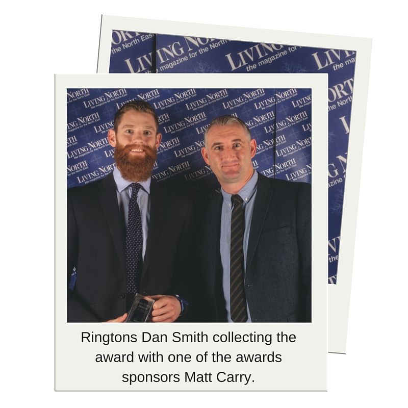 Ringtons Dan Smith and Awards Sponsor Matt Carry