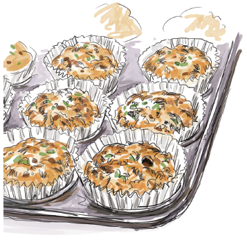 Spinach and Parmesan Mini Muffins