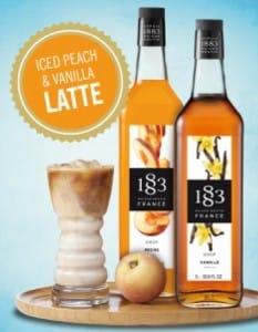 Iced Peach & Vanilla Latte