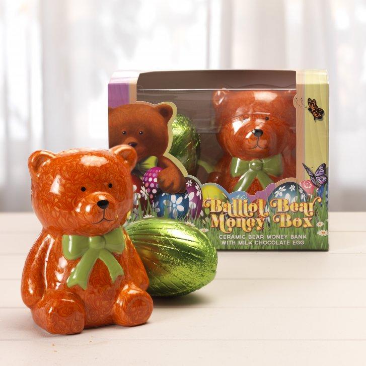 Balliol bear money box gifts from ringtons ltd uk balliol bear money box negle Gallery