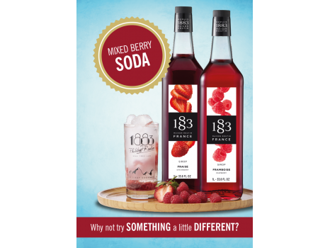 Mixed Berry Soda Poster