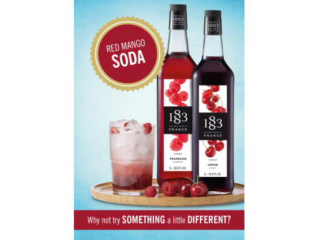 Red Mango Soda Poster