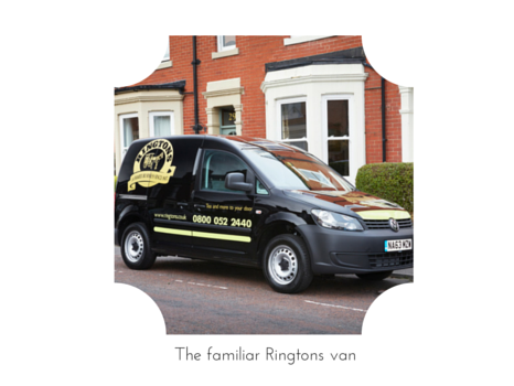 The familiar Ringtons Van