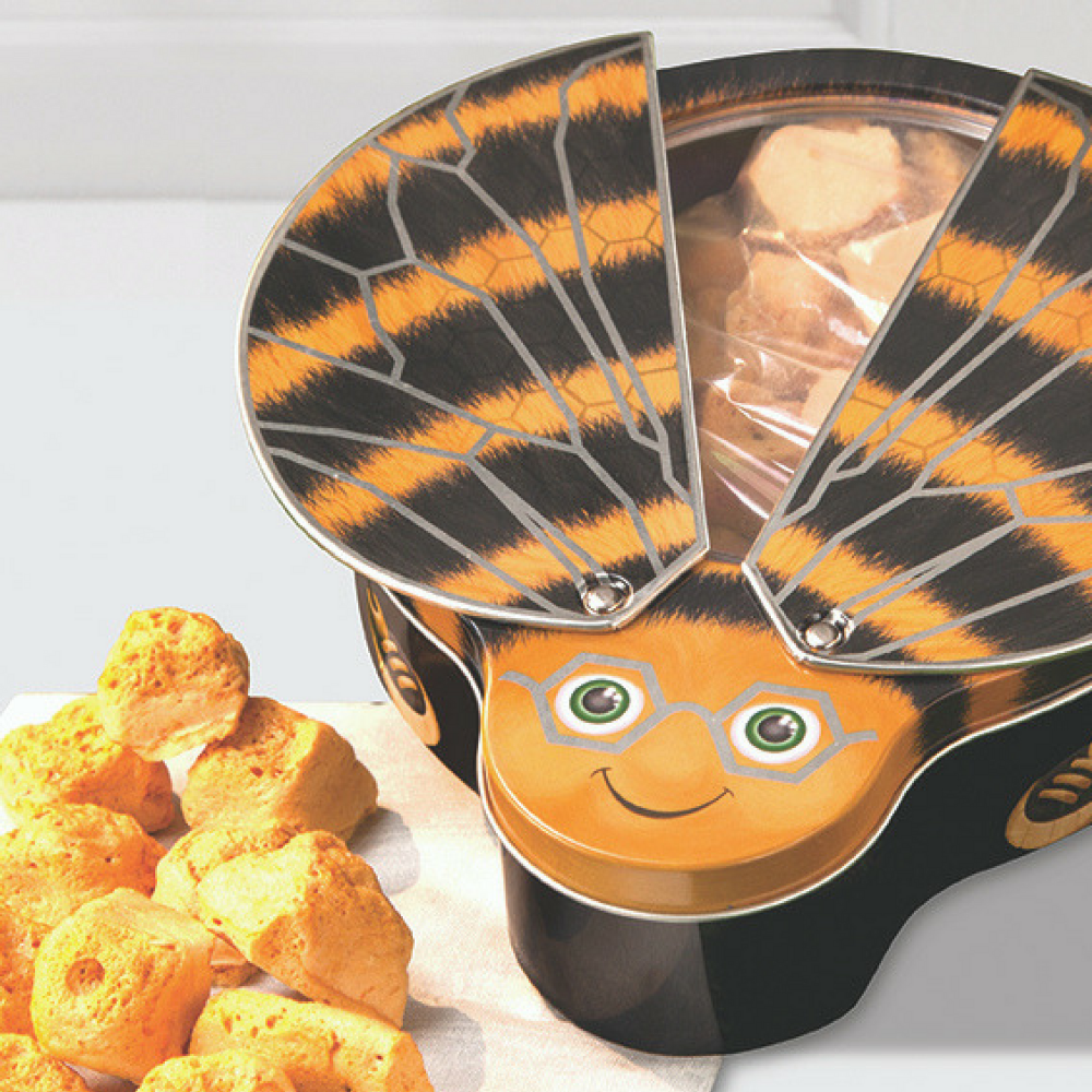 New in bee tin with honeycomb toffee negle Choice Image