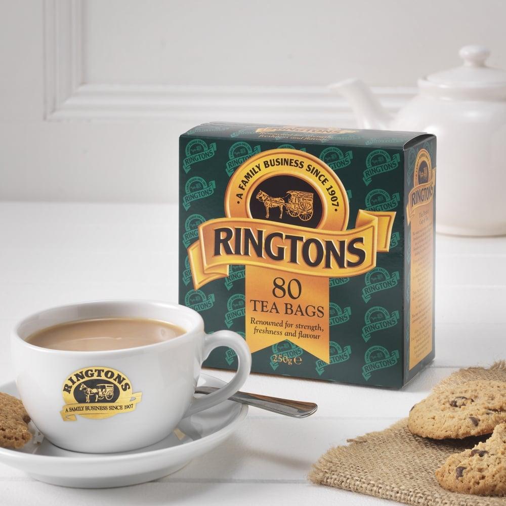 ringtons boxed tea bags x 80