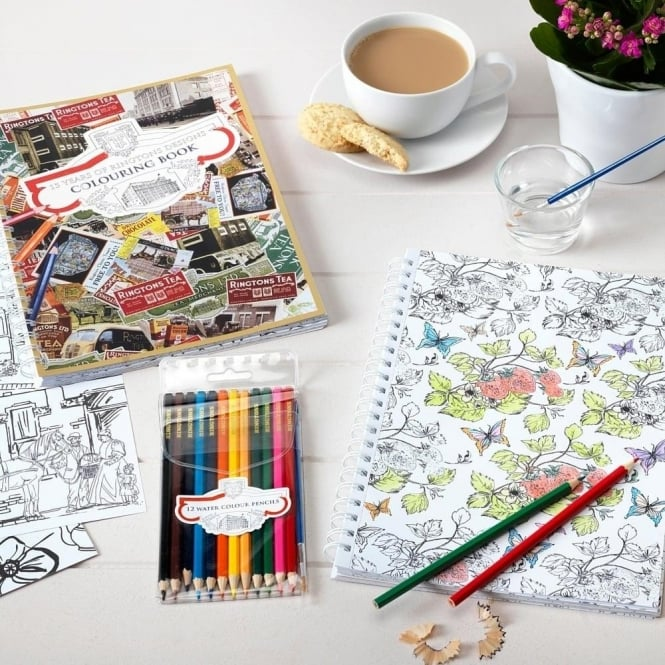 Ringtons Colouring Book with Watercolour Pencils