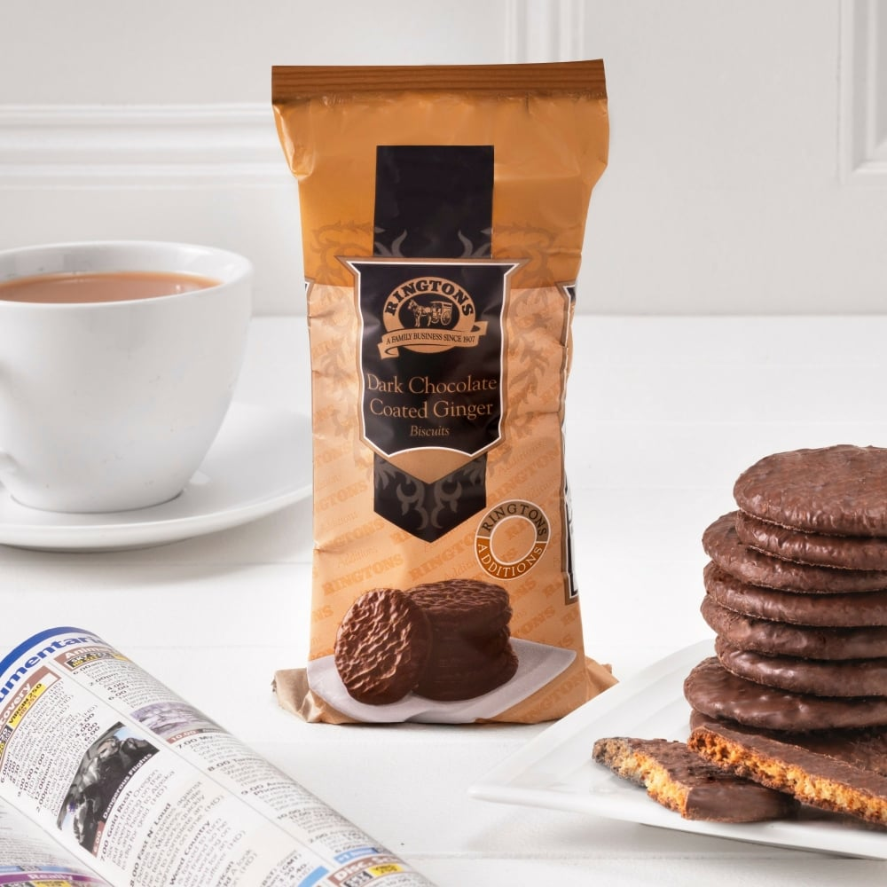 ringtons dark chocolate ginger biscuits ringtons