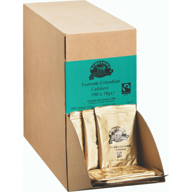 Ringtons Fairtrade Colombian Coffee for Cafetieres 100 x 18g
