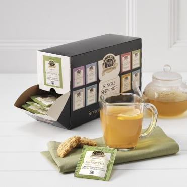 Ringtons Fairtrade Green Tea Tag & Envelope Tea Bags x 100