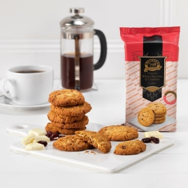 Ringtons Gluten Free White Chocolate & Cranberry Cookies
