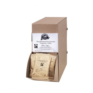 Ringtons Ground Decaf Fairtrade Coffee Sachets 100 x 16g