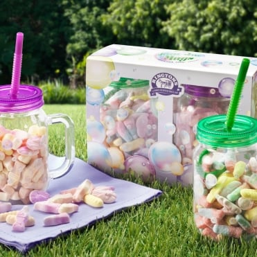 Ringtons Jam Jar Mugs with Sweets