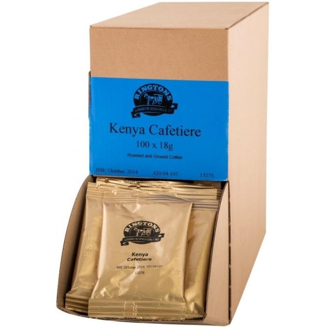 Ringtons Kenyan Mountain Cafetiere Coffee 100 x 18g