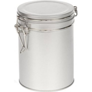 Ringtons Small Silver Storage Tin